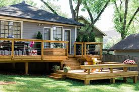 split level house with front porch deck ground level deck plans premade decks deck blueprints