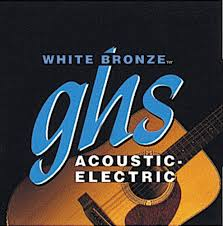 light electric guitar strings ghs strings white bronze acoustic electric guitar strings light