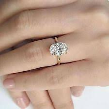 2 carat solitaire engagement rings oval ring ebay
