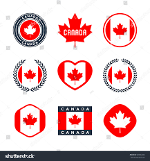 canada canadian flag red maple leaf stock vector 520932262