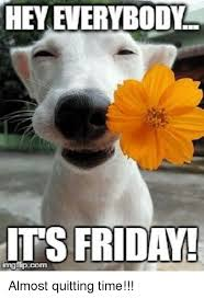 Its Friday Meme - hey everybody its friday imgffpucom almost quitting time