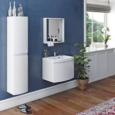 Bathroom Furniture Set Mode Harrison Snow Furniture Set With Wall Hung Vanity Unit 600mm