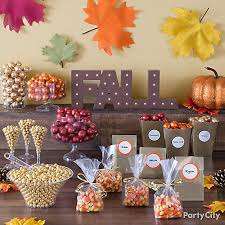 Candy For A Candy Buffet by Fall Candy Buffet Table Idea Party City