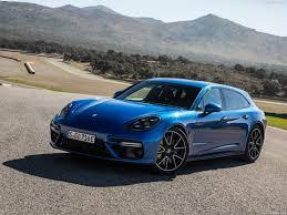 porsche panamera dark blue porsche panamera turbo s e hybrid sport turismo 2018 pictures