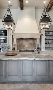 interior light blue french country kitchen design country