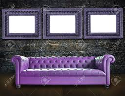 Old Style Sofa by Single Vintage Style Sofa In Old Room Background Stock Photo