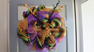 Halloween Mesh Wreaths by Deco Mesh Halloween Wreath Easy Step By Step Instructions Youtube