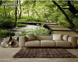 wallpaper baseball picture more detailed picture about beibehang beibehang customize any size mural 3d room wallpaper wall natural landscape wooden bridge photo 3d wall