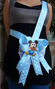 baby shower mickey mouse mom to be it u0027s a boy sash blue ribbon and
