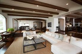 Living Room Ceiling Beams Exposed Wood Beams Ceiling Transitional Living Room