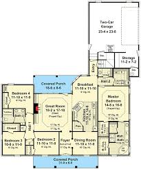 Price To Draw Original Home Floor Plan 1870 Sq Feet I Twelve Foot Great Room Ceilings 51054mm Architectural Designs