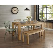 distressed dining room sets better homes and gardens collin distressed white dining chair set