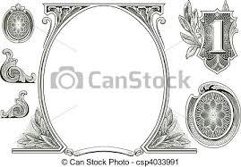 vector clip of vector money ornaments set of detailed vector