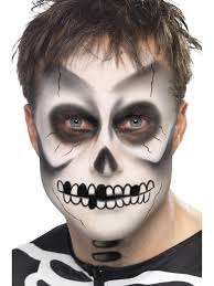 Skeleton Face Painting For Halloween by Skeleton Face Paint Halloween Fancy Dress Costume Make Up Kit