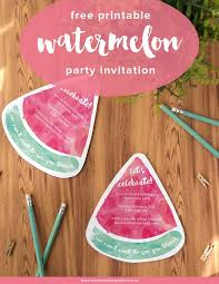 free printable watermelon party invites summer parties party