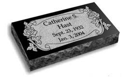 flat headstones for flat grave markers