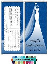 Custom Wedding Dress Custom Wedding Dress Bridal Shower Candy Bar Wrappers Candles