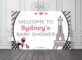 parisian baby shower baby shower backdrops archives my stylish party
