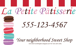Bp Business Card Fun With Ag Fan Grace U0027s Bakery Business Cards Printable