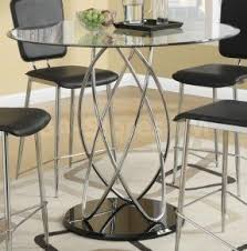 Glass Bar Table And Stools Glass Pub Table Sets Foter