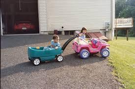 jeep barbie kids with barbie jeep and wagon july 2006