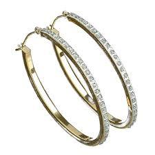 gold and diamond earrings earrings diamond earrings sears