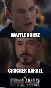 Cracker Memes - marvel civil war southern edition imgflip