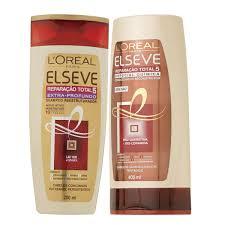 New Kit de Shampoo + Condicionador ELSEVE Reparação Total 5 Extra  @NU85