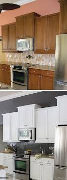 painting kitchen cabinets before after how i transformed my kitchen with paint kitchens house and flipping