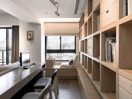 A Modern Apartment Celebrates The Look Of Natural Wood - Modern apartment design