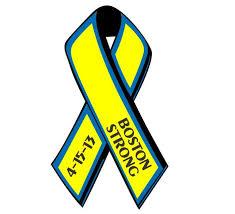 blue and yellow ribbon boston strong blue yellow ribbon decal