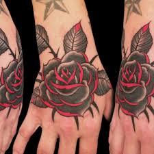 blood roses tattoo american hand tattoo on tattoochief com