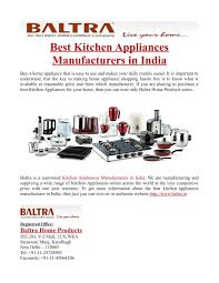 kitchen appliance manufacturers ppt best kitchen appliances manufacturers in india powerpoint