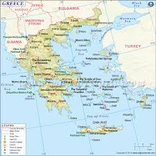 Germany On World Map by Https Www Mapsofworld Com Greece Maps Greece Map