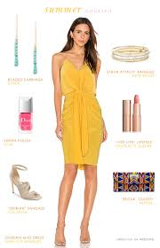 yellow dress for wedding summer cocktail attire dress for the wedding