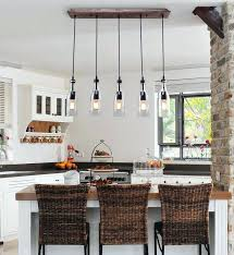 light for kitchen island recessed wood beam 5 light kitchen island pendant best rustic