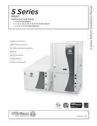 water furnace 500a11 5 series installation manual