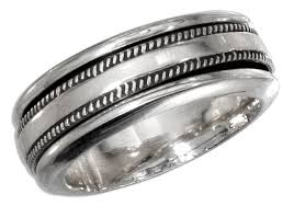 worry ring sterling silver mens worry ring with coin edge spinning band
