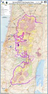 Isreal Map Map Of Israel Security Fence Route April 06 Idf Version