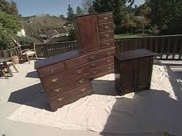 How To Repaint Wood Furniture by How To Lighten Dark Bedroom Furniture With Paint How Tos Diy