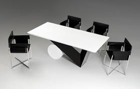 Black Lacquer Dining Room Chairs Bauhaus Modern Black And White Dining Table