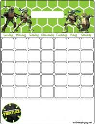 calendar ninja turtles calendars free printable ideas