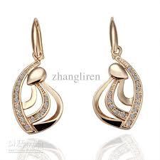 gold earring design with price 2018 women s 18krgp gold earrings design plating gold diamond