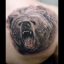 small tribal bear tattoo for men real photo pictures images and