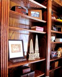 cool natural wooden bookshelves with graded rack for bookshelves