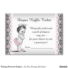 vintage princess diaper raffle ticket large business cards pack