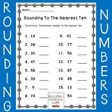 this is a free rounding worksheet for students just download and