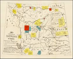 Wy Map Map Showing Location Of Sheridan Wyoming And Surrounding