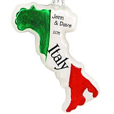 italy glass personalized ornament keepsake travel