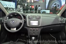 renault sandero stepway interior 2016 dacia sandero stepway with easy r amt dashboard at the iaa